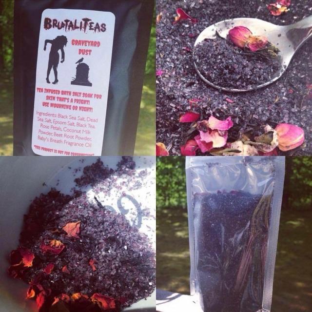 Graveyard Dust - Tea Infused Bath Salt Soak